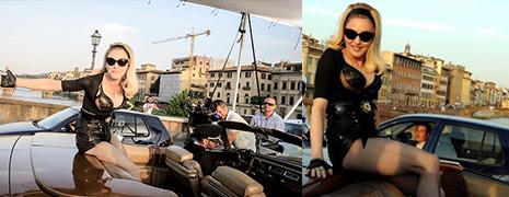 Les solaires de Madonna sur le tournage de son dernier clip