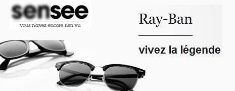 Ray-Ban à partir de 89 euros sur Sensee