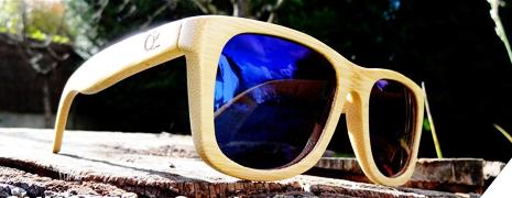 La paire de lunettes de soleil en bois d'Ozed
