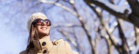 Pensez aux lunettes de soleil, même en hiver