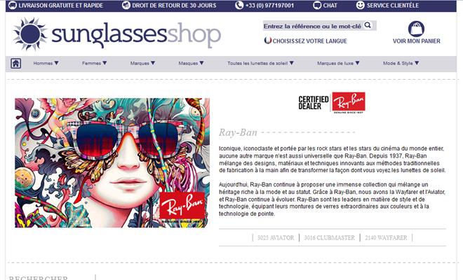 Les Ray-Ban de toutes les couleurs chez SunglassesShop