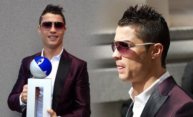 les lunettes de soleil de Cristiano Ronaldo lors du trophée Di Stéfano