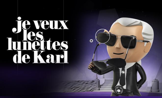 Attrapez les lunettes de Karl Lagerfeld!