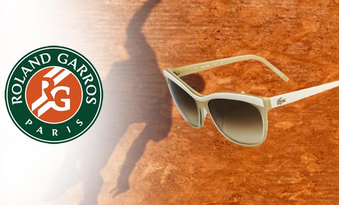 Lunettes de soleil Lacoste, parfaites pour Roland Garros